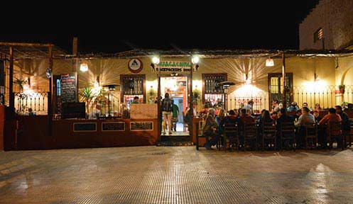 Restaurant in Huacachina, Ica, Peru